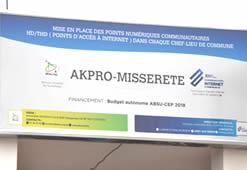 Cérémonie de mise en service des Points Numériques Communautaires à Akpro-Missérété