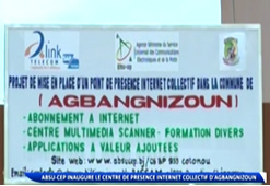 ABSU CEP INAUGURE LE CENTRE DE PRESENCE INTERNET COLLECTIF D'AGBANGNIZOUN